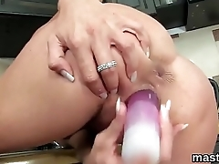 Frisky czech tolerant gapes the brush wet quim to the limit