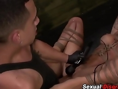 Gagged sub gets fucked