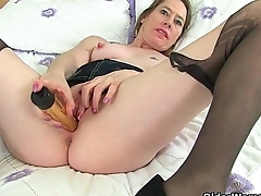 British milfs Sexy P and Penny Brooks chastise getting off