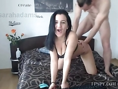 Hot ass Brunette girl blowjob and dogstyle