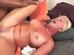 Interracial Anal Lady-love with Granny Anett