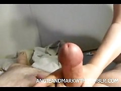 Wife hates his tiny dick...forces him to watch her