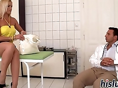 Delicious blonde slut has her snatch drilled