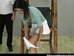 She binds them and spanks them