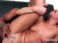 Wild MILF humping cock and swallowing jizz