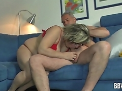 BBW german milf gets fucked