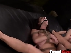 Bound slave gags beyond everything dick
