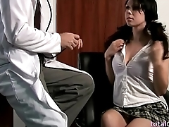 Schoolgirl Madison examines be transferred to doctor