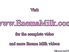 Enema fetish dykes squirting milk