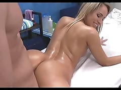 Full Body Shinny up Massage with cuming on her! Pt2
