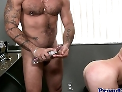 Mature office hunk rimming forwards anal