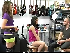 Amateur girl likes to drag inflate cock for cash 4