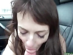 Public Pickups - Czech Sexy Babe Sucking Big Dick In Public For Euros 16