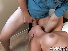 Mommy gets pussy ready for fuck