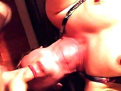 Petite blonde whore deepthroating and swallowing cum - Erin Electra