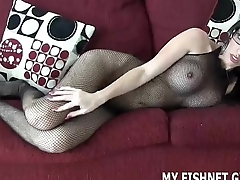 My feet up fishnets are irresistible JOI