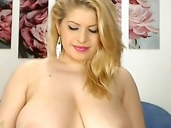 Gorgeous Blonde Plays in all directions Big Tits   - combocams.com