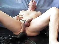 Poppers mask, verge upon prostate milking and cum - www.thegay.webcam