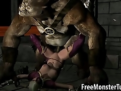 3D babe getting eaten in foreign lands and fucked by an ogre