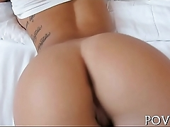 Unshaved pussy receives cumshots