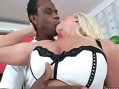 Amazing busty granny gets an older black dick