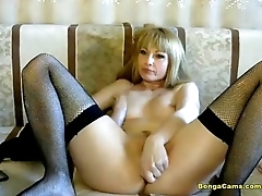 Double dildo pussy penetration and anal fisting