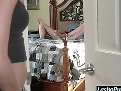 Hard Punish Sex On Cam With Lesbians (bianca&amp_halle) clip-14