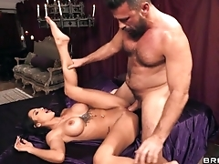 Latina diva nailed by hung stranger during strip