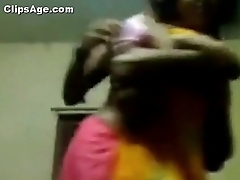 Pretha from Kolkata trying wide hide herself as her boyfriend insist of video