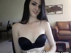 Beautiful Lady Striptease - HotFuckWebcams.com