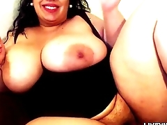 Sweet candy BBW with huge bouncing boobs and phat pussy