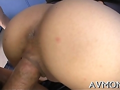Slut milf oriental sucks on hard one-eyed being