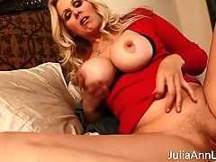 Busty Milf Julia Ann Teases Stepson to Chunky Tits!