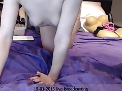 Young Floozie does Pantie Insertion and Pussy Fuck &mdash_   www.girls4cock.com/siswet19