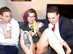 ALISON GUGLIELMETTI PUT A BANANA IN HER PUSSY IN Resolution OF MAX FELICITAS AND ANDR