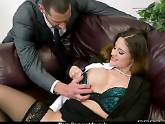 Big-boobed office executive fucks her innovative employee 18