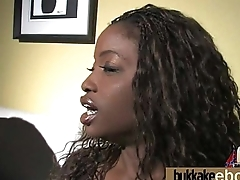 Naughty black wife gang banged by white friends 21