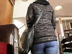 Public Pickups - Euro Erotic Girl Drag inflate Cock For Cash In Public 16