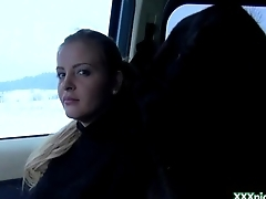Public Pickups - Euro Morose Girl Suck Horseshit For Cash In Public 16