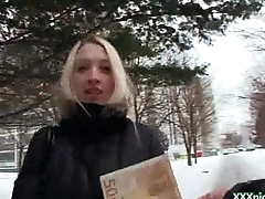 Public Pickups - Euro Sexy Unshaded Suck Cock For Cash In Public 29