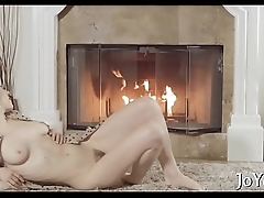 Playgirl gets agonorgasmos of a solo play