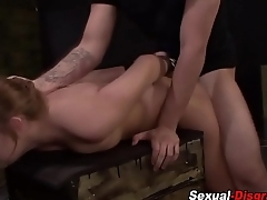 Fetish slut gobbles cock