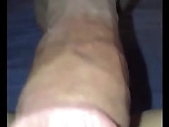 fucks the brush pussy while she films