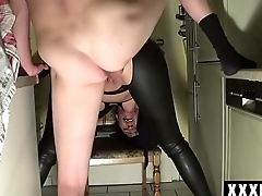 Wife in kitchen getting ass fucked hardcore